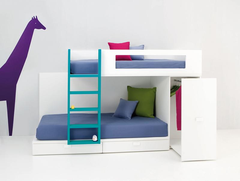 Dormitorio juvenil tren dos camas kiona salamanca - Dormitorios infantiles dos camas ...