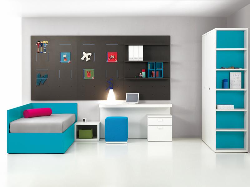 Dormitorio juvenil con cama canape kiona salamanca - Dormitorios con canape ...