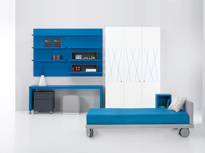 Dormitorio juvenil con cama de ruedas kiona salamanca - Ruedas para cama ...
