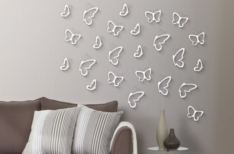 Mariposas en pared imagui - Paredes en 3d decoracion ...