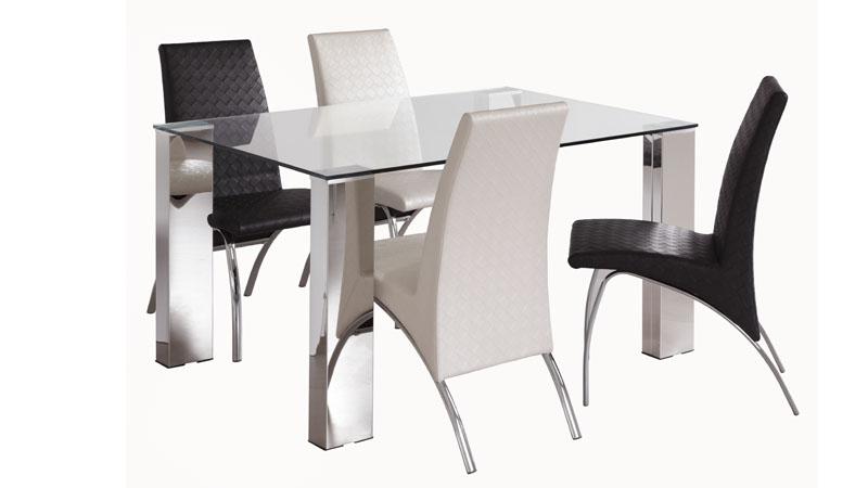 Conjunto mesa de comedor sheila y 4 sillas kira kiona for Conjunto de mesa y sillas de comedor