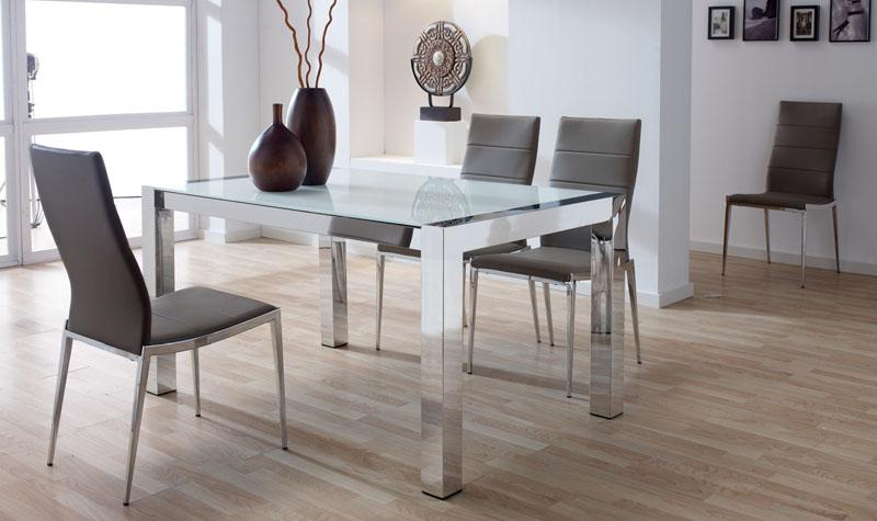 Conjunto mesa de comedor+4 sillas acero LB2 - Kiona Salamanca ...