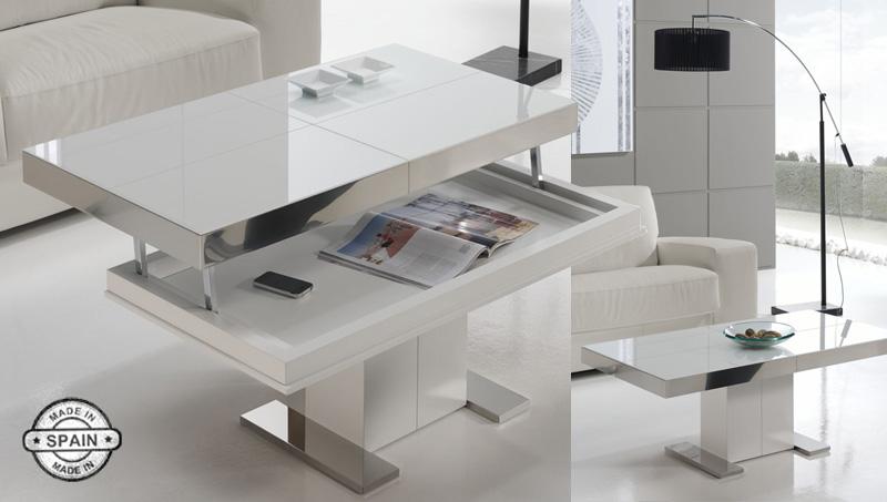 Mesa de centro elevable rectangural intemporal kiona for Mesas de centro salon ikea
