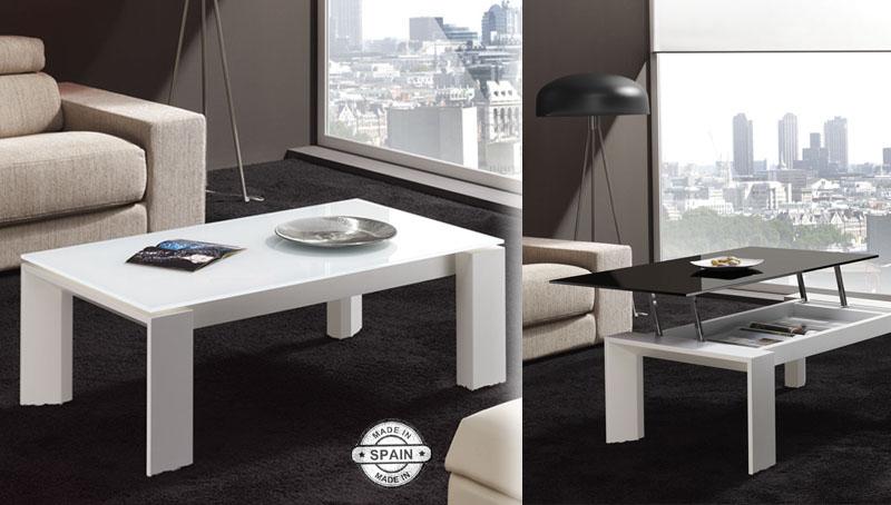 Mesa de centro elevable rectangural eco kiona salamanca for Muebles de oficina salamanca