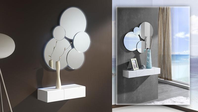 mueble para recibidores con cajn y espejo hello