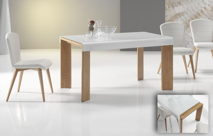 Mesa de comedor extensible kiona salamanca tienda de - Mesas de comedor pequenas y extensibles ...