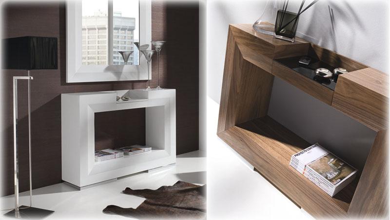 Consola de entrada con espejo kiona salamanca tienda - Consola muebles entrada ...