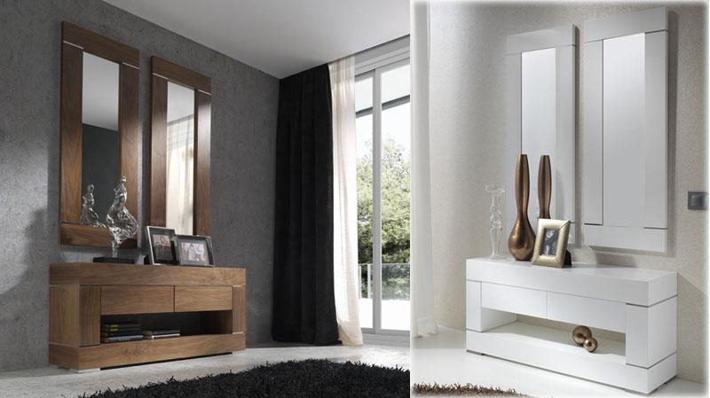 Consola de entrada con 2 espejos kiona salamanca for Espejos para consolas