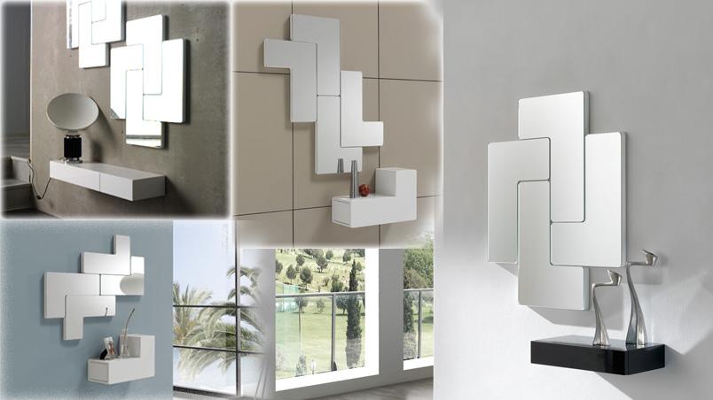 mueble para recibidores con cajn y espejo
