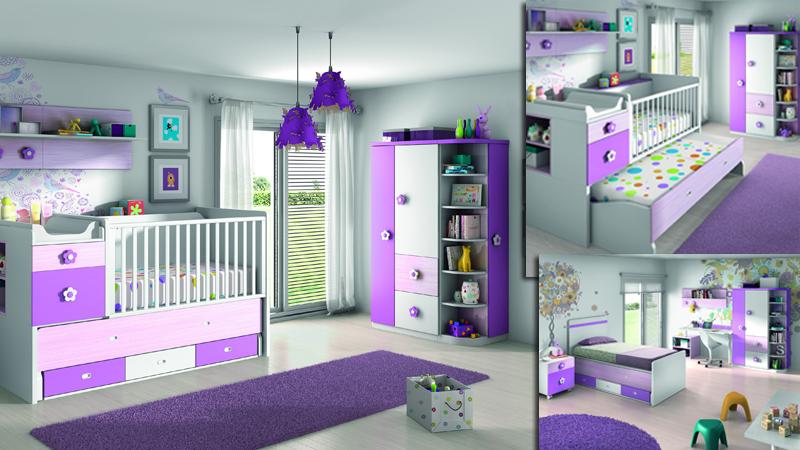 Dormitorio infantil con cuna convertible KROMA-01 - Kiona Salamanca ...