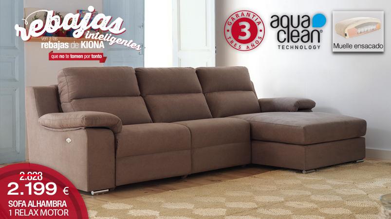 Sofa con chaise longue alhambra kiona salamanca tienda for Centro reto salamanca recogida muebles